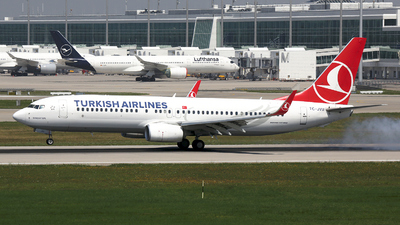 A picture of TCJVU - Boeing 7378F2 - Turkish Airlines - © Stefan Mayer