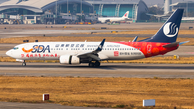 A picture of B1982 - Boeing 73785N - Shandong Airlines - © AlphaJY