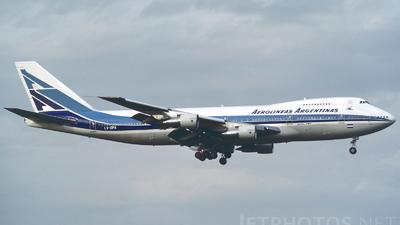 LV-OPA - Boeing 747-287B - Aerolíneas Argentinas