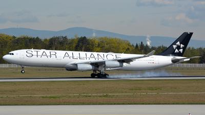 D-AIGV - Airbus A340-313X - Lufthansa CityLine