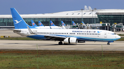 A picture of B5706 - Boeing 73785C - Xiamen Air - © nibrage