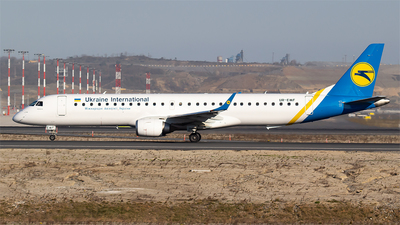 A picture of UREMF - Embraer E195LR - Ukraine Int. Airlines - © Bora Polater