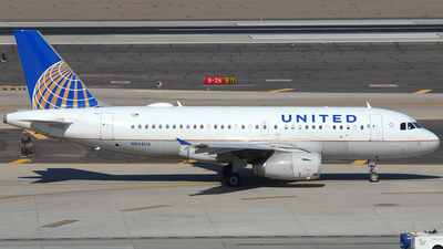 A picture of N844UA - Airbus A319131 - United Airlines - © Jason Whitebird