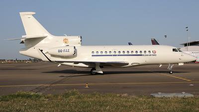 OO-FAE - Dassault Falcon 7X - Belgium - Air Force