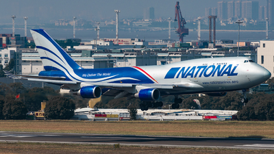 A picture of N952CA - Boeing 747428(BCF) - National Airlines - © AndySpotter
