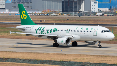 A picture of B6820 - Airbus A320214 - Spring Airlines - © ZGGG RWY01