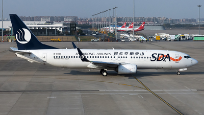 A picture of B6987 - Boeing 73785N - Shandong Airlines - © Lazy Clutch