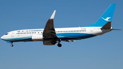 A picture of B5752 - Boeing 73785C - Xiamen Air - © Tom Cheng