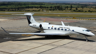 AF001 - Gulfstream G650ER - Zambia - Air Force