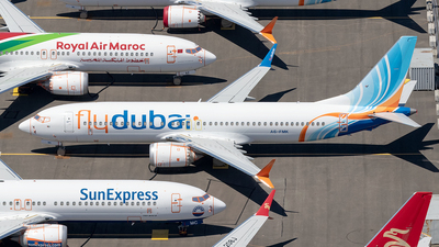 A picture of A6FMK - Boeing 737 MAX 8 - FlyDubai - © xuxinyi1000