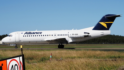 A picture of VHQQX - Fokker 70 - Alliance Airlines - © toeychincha