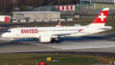 A picture of HBJCQ - Airbus A220300 - Swiss - © Brian T Richards