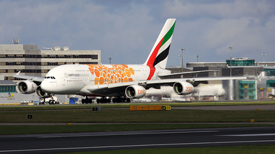 A picture of A6EUX - Airbus A380842 - Emirates - © Michael Eaton