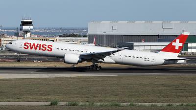 A picture of HBJNL - Boeing 777300(ER) - Swiss - © luiscspvieira