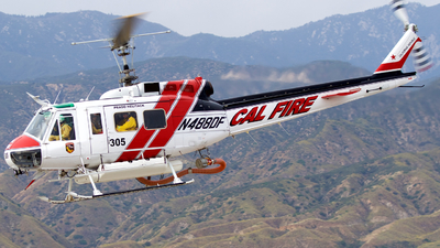 N488DF - Bell UH-1H Iroquois - United States - California Department of Forestry