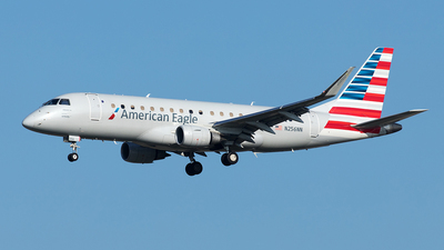 A picture of N256NN - Embraer E175LR - American Airlines - © Yixin Chen