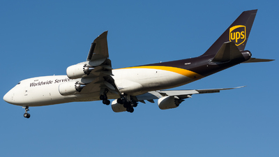 A picture of N611UP - Boeing 7478F - UPS Airlines - © BobH