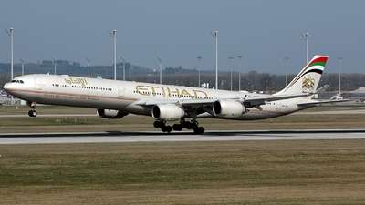 A6-EHL - Airbus A340-642X - Etihad Airways