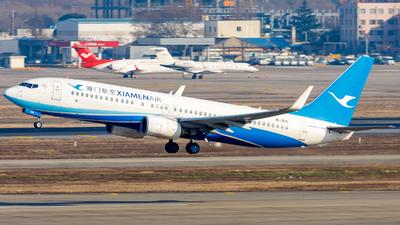 A picture of B1915 - Boeing 73785C - Xiamen Air - © H.C.