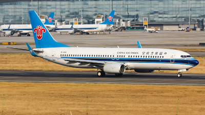 A picture of B1916 - Boeing 73781B - China Southern Airlines - © Lywings