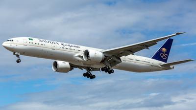 A picture of HZAK40 - Boeing 7773FG(ER) - Saudia - © Leo Sheng