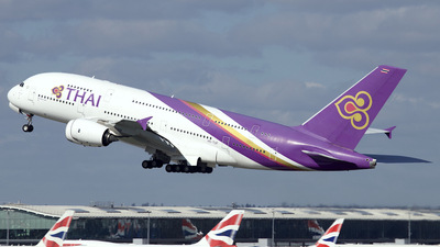 A picture of HSTUF - Airbus A380841 - Thai Airways - © Peter Cook