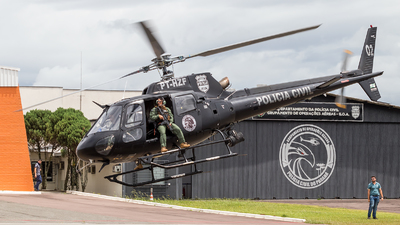 PT-HZF - Eurocopter AS 350B2 Ecureuil - Brazil - Policia Civil