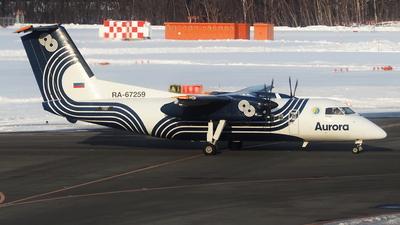 A picture of RA67259 - De Havilland Canada Dash 8200 - Aurora - © toeychincha