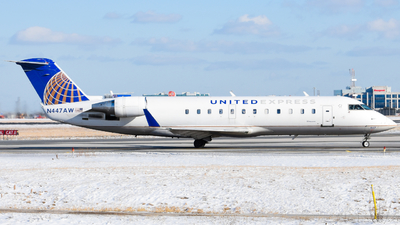 A picture of N447AW - Mitsubishi CRJ200LR - United Airlines - © Aaron Miles