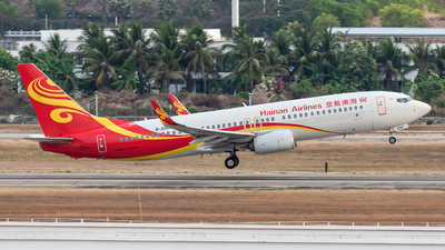 A picture of B206F - Boeing 73784P - Hainan Airlines - © Lazy Clutch