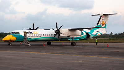 A picture of HSDQH - De Havilland Canada Dash 8400 - Nok Air - © Indy Udol