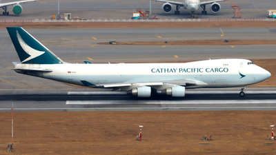 A picture of BLIF - Boeing 747467F(ER) - Cathay Pacific - © Thomasng