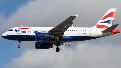 A picture of GEUPP - Airbus A319131 - British Airways - © Piotr Persona