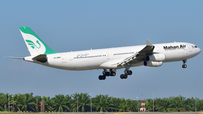 A picture of EPMMD - Airbus A340313 - Mahan Air - © flee