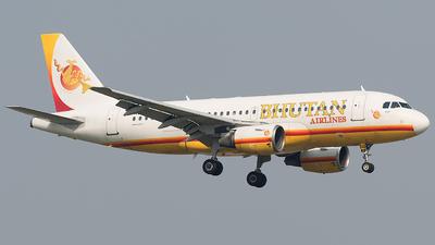 A5-BAB - Airbus A319-112 - Bhutan Airlines