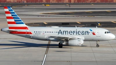 A picture of N830AW - Airbus A319132 - American Airlines - © Jason Whitebird