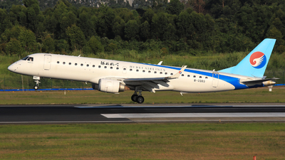 A picture of B3383 - Embraer E190LR - Hebei Airlines - © Jack Green