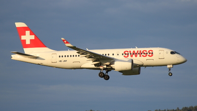 A picture of HBJBF - Airbus A220100 - Swiss - © Christoph Plank