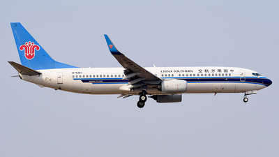 A picture of B5747 - Boeing 73781B - China Southern Airlines - © MingyaoLeonardo
