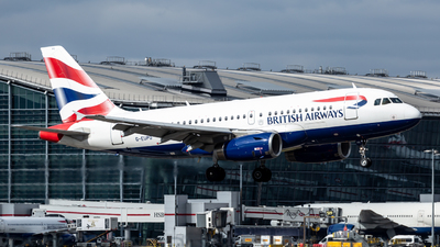 A picture of GEUPO - Airbus A319131 - British Airways - © Leo Sheng