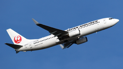 A picture of JA344J - Boeing 737846 - Japan Airlines - © TRAVAIR