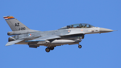 J-210 - General Dynamics F-16BM Fighting Falcon - Netherlands - Royal Air Force