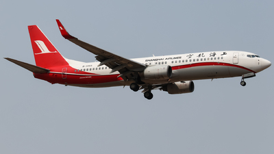 A picture of B5185 - Boeing 7378Q8 - Shanghai Airlines - © Egg manager