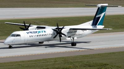 A picture of CFSWE - De Havilland Canada Dash 8400 - WestJet - © zhangmx969
