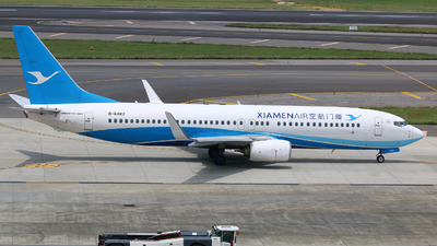 A picture of B6482 - Boeing 73785C - Xiamen Air - © R-H Chen