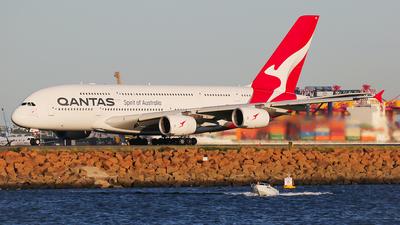 A picture of VHOQB - Airbus A380842 - Qantas - © Mark H