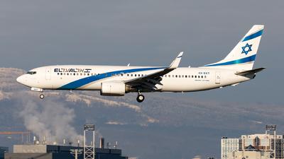 A picture of 4XEKT - Boeing 7378BK - El Al - © Sebastian Sowa