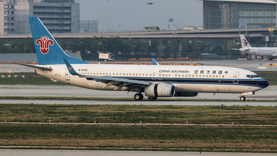 A picture of B5747 - Boeing 73781B - China Southern Airlines - © YangZhang