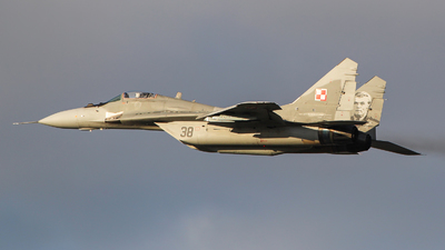 38 - Mikoyan-Gurevich MiG-29A Fulcrum - Poland - Air Force