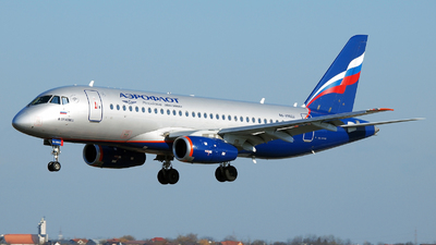 A picture of RA89022 - Sukhoi Superjet 10095B - Aeroflot - © Marin Ghe.
